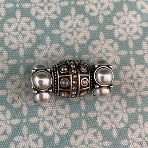 Brighton Marrakesh barrel charm with pearly accenc